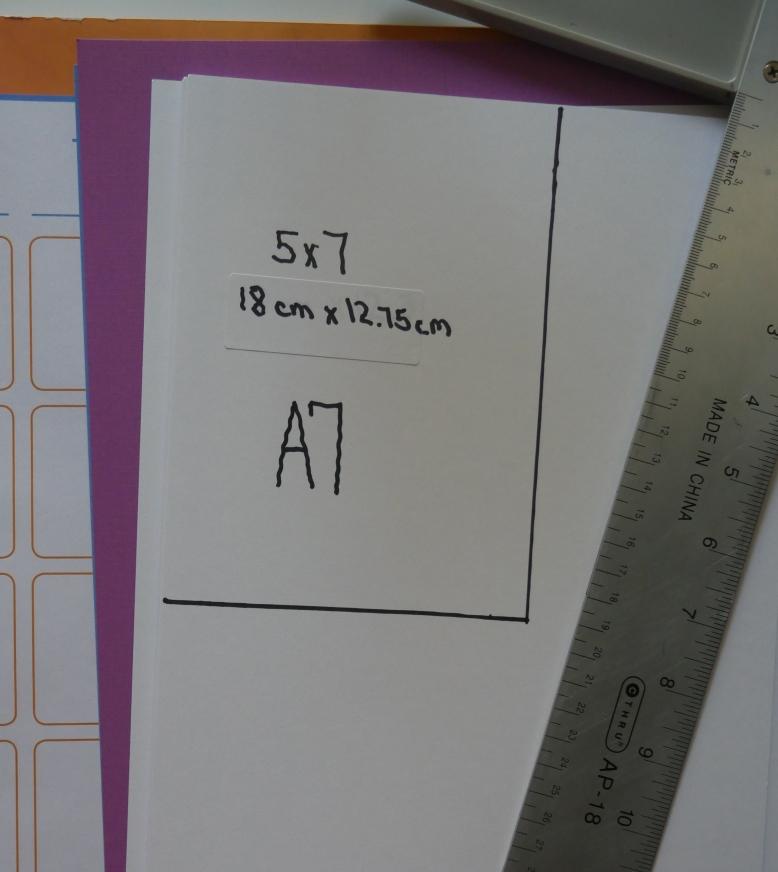 A7 card size
